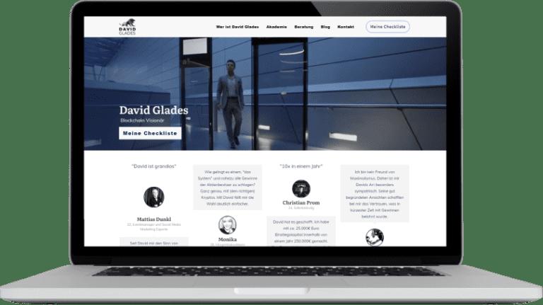 David Glades Website