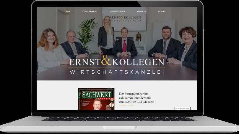 Ernst & Kollegen Wirtschaftskanzlei Website